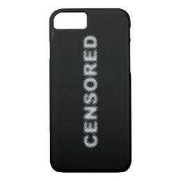 CENSORED (light grey) iPhone 8/7 Case