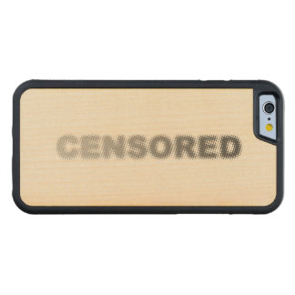 CENSORED (light to dark grey) Carved Maple iPhone 6 Bumper Case