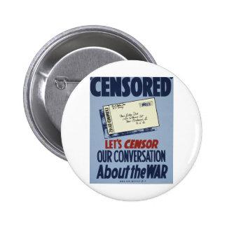 Censored Pinback Button