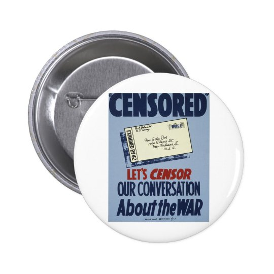Censored Pinback Button