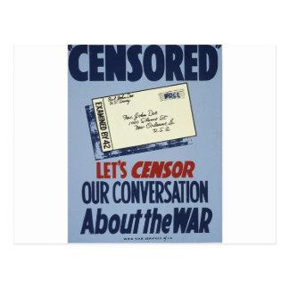 Censored Postcard