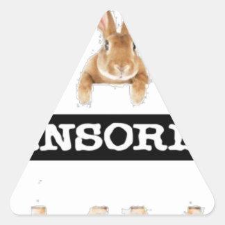 censored rabbit triangle sticker