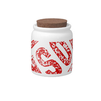Censored Rubber Stamp Candy Dish