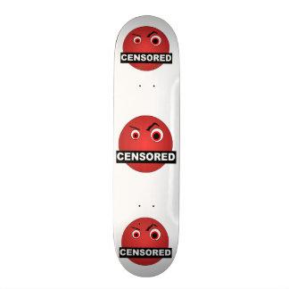 Censored Smiley Skate Board