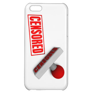 Censored Stamp or Chop on Paper Concept in 3d Case For iPhone 5C