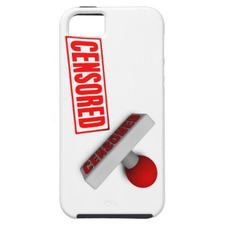 Censored Stamp or Chop on Paper Concept in 3d iPhone SE/5/5s Case