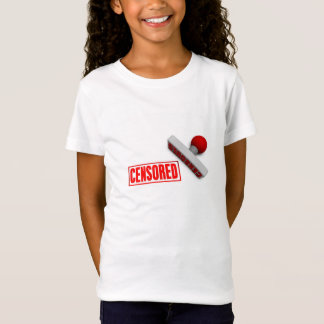 Censored Stamp or Chop on Paper Concept in 3d T-Shirt