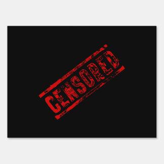 Censored Stamp Yard Sign