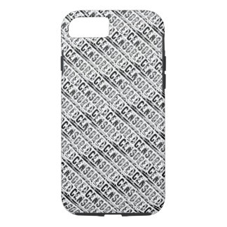 censored Typography Word First Draft Black iPhone 8/7 Case