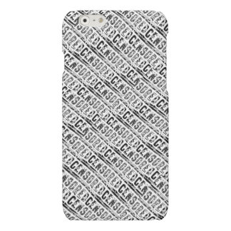 censored Typography Word First Draft Black Matte iPhone 6 Case