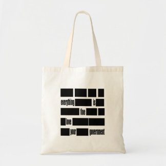 Censorsed Government Message Bags