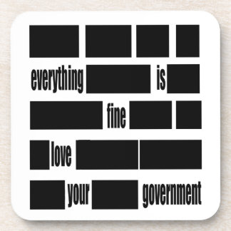 Censorsed Government Message Drink Coaster