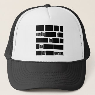 Censorsed Government Message Trucker Hat