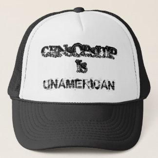 CENSORSHIP, IS, UNAMERICAN TRUCKER HAT