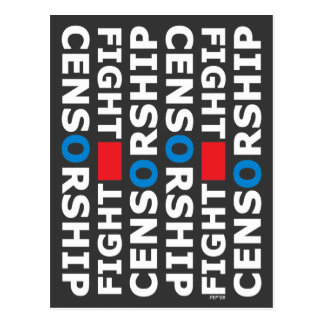 Censura de la lucha postales