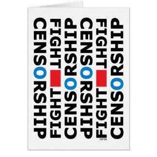 Censura de la lucha tarjeta de felicitación