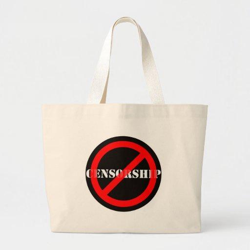 Censura de la prohibición bolsa tela grande