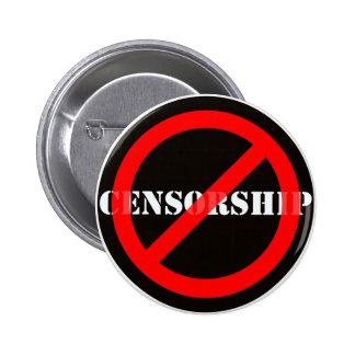 Censura de la prohibición pin redondo de 2 pulgadas