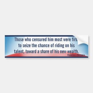 Censure & Wealth Seizure (Rand) Bumper Stickers