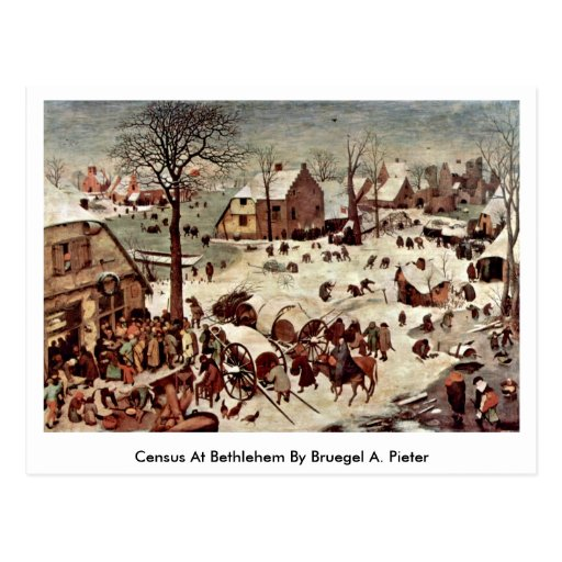 Census At Bethlehem By Bruegel A. Pieter Postcard