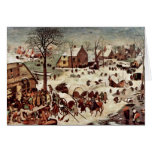 Census At Bethlehem  By Bruegel D. Ä. Pieter Card