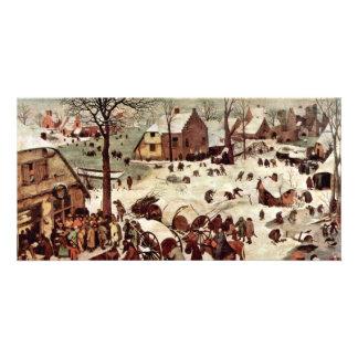 Census At Bethlehem  By Bruegel D. Ä. Pieter Customized Photo Card