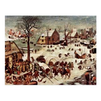 Census At Bethlehem  By Bruegel D. Ä. Pieter Postcard