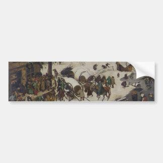 Census at Bethlehem by Pieter Bruegel Car Bumper Sticker