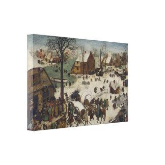 Census at Bethlehem by Pieter Bruegel Canvas Print