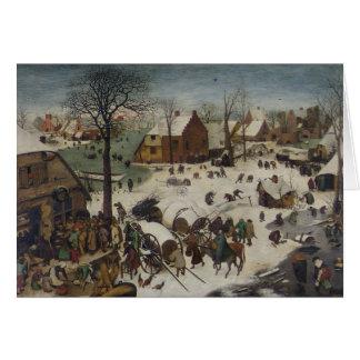 Census at Bethlehem by Pieter Bruegel Card