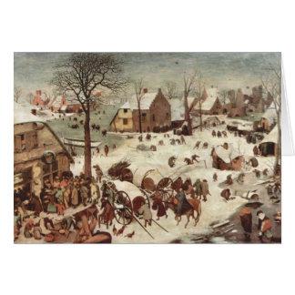 Census at Bethlehem by Pieter Bruegel Stationery Note Card