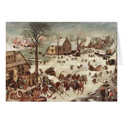 Census at Bethlehem by Pieter Bruegel Cards