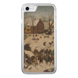Census at Bethlehem by Pieter Bruegel Carved iPhone 7 Case