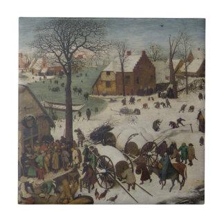 Census at Bethlehem by Pieter Bruegel Ceramic Tile