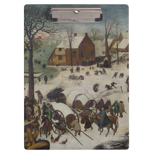 Census at Bethlehem by Pieter Bruegel Clipboard