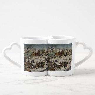 Census at Bethlehem by Pieter Bruegel Coffee Mug Set