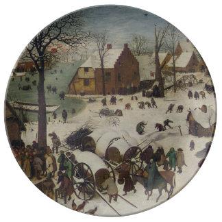 Census at Bethlehem by Pieter Bruegel Dinner Plate
