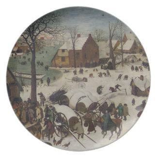 Census at Bethlehem by Pieter Bruegel Plate