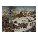 Census at Bethlehem by Pieter Bruegel Postcard