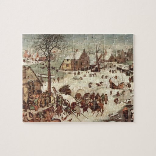 Census at Bethlehem by Pieter Bruegel Jigsaw Puzzle
