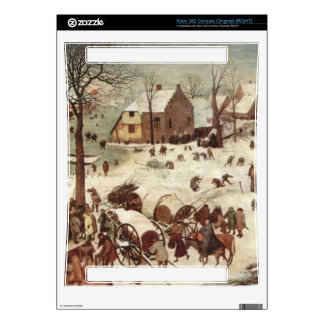 Census at Bethlehem by Pieter Bruegel Xbox 360 Console Decal