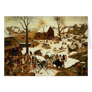 Census at Bethlehem, c.1566 Greeting Card