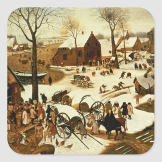 Census at Bethlehem, c.1566 Square Sticker