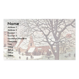 Census At Bethlehem, Detail By Bruegel D. Ä. Piete Double-Sided Standard Business Cards (Pack Of 100)