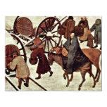 Census At Bethlehem, Detail By Bruegel D. Ä. Piete Personalized Invites