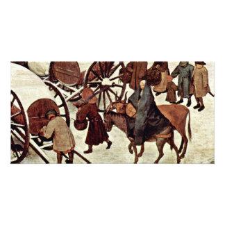 Census At Bethlehem, Detail By Bruegel D. Ä. Piete Photo Greeting Card