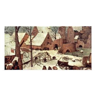 Census At Bethlehem, Detail By Bruegel D. Ä. Piete Photo Card
