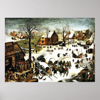 Census at Bethlehem, Pieter Bruegel the Elder art Poster