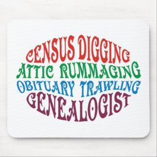 Census Digging Genealogist Mouse Pad
