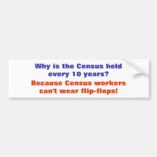 Census Humor Bumper Sticker